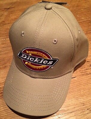 f020f0e6688 DICKIES BRAND KHAKI EMBROIDERED ADJUSTABLE BALL HAT CAP one size fits most  NEW