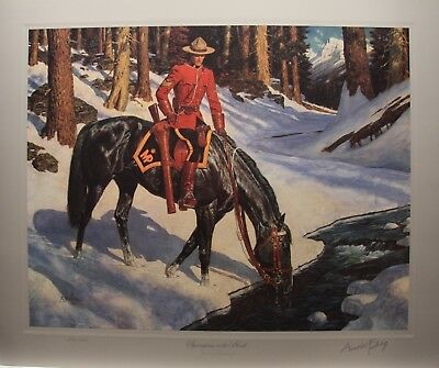 Arnold FRIBERG Springtime in North RCMP Ltd art print Northwest Mounted Police