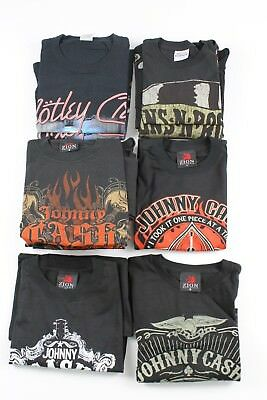 Wholesale Lot of New Men's Rock T-shirts Johnny Cash Guns N Roses 13 Pieces