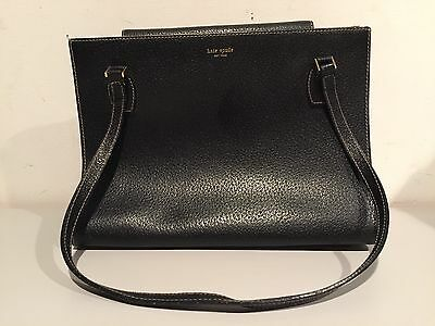 b1f074e58767 Vintage Kate Spade New York Black Leather Handbag Bag Purse One Of A Kind  Rare!