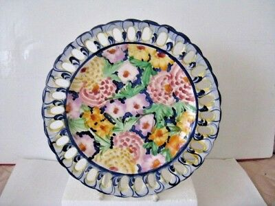 "Jay Willfred Andrea by Sadek, Portugal Hand Painted Decorative Plate, 8 7/8"" Dia"