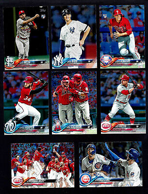 2018 Topps Series 2 Rainbow Foil: Complete Your Set 351-700 You Pick