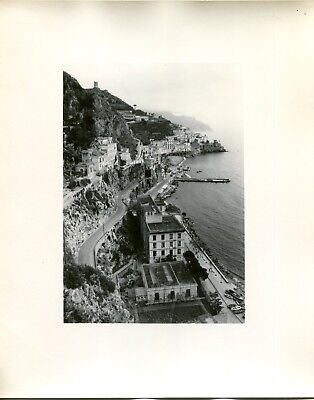 Vintage 1950s Travel Photo AMALFI COAST ITALY Birds Eye view of the coastline
