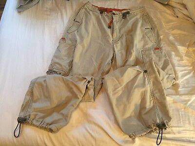vtg abercrombie and fitch tech cynch cargo pants medium 30 31 32 33 34 35 36