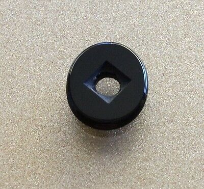 NATURAL BLACK ONYX 12x9MM DRILLED CABACHON STONE LOOSE