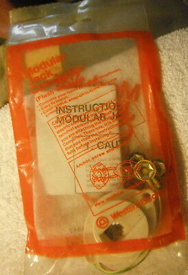 NOS Western Electric Bell System AT&T Modular WALL JACK Converter telephone phon