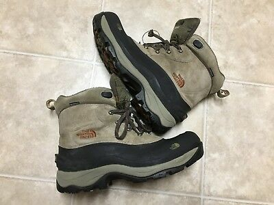 a64fe777d THE NORTH FACE Mens Chilkat Winter Boots Size 13 Gray Primaloft Waterproof  Beige