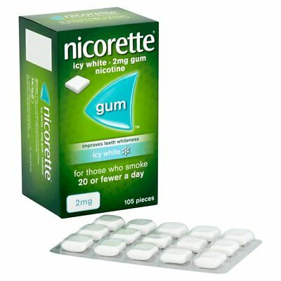 Nicorette Nicotine 105  Gum  Fresh Mint, Icy, FRUITY, ORIGINAL 4mg and 2mg