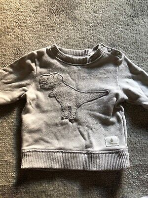 Country Road Baby Boys Grey Dinosaur Print Sweatshirt Size 000