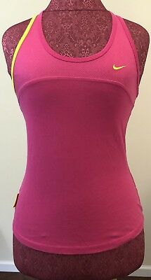 938cd27b75 Nike Dri-Fit Tank Top Size XS 0-2 Hot Pink Livestrong Racerback Athletic