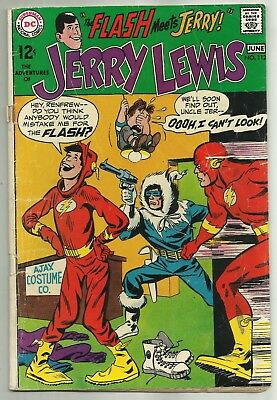 THE ADVENTURES OF JERRY LEWIS #112 (Jerry Meets The Flash!), DC Comics, 1969