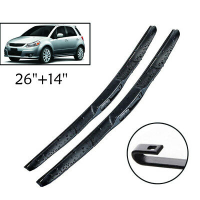 Hybrid Front Windscreen Wiper Blades Kit For Suzuki SX4 S-Cross 2006-2018