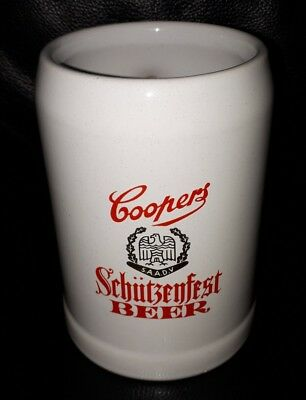 Rare Collectable Ceramic Style Coopers Schutzenfest Beer Mug Good Used Condition