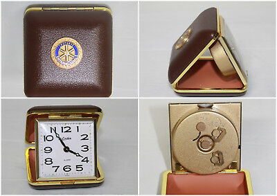 Vintage Rotary International Folding Travel Linden Alarm Clock