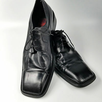 1402ba99b80 Ravello Black Leather Oxfords 85123 Hand Made Shoes Mens sz 10 Tie 44 Euro  Italy