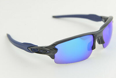 996ba6df42 Oakley Flak 2.0 Sunglasses Polished Black w Blue Sapphire Iridium OO9188-44
