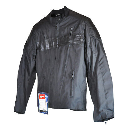 Fulmer Womans Ladies XL Stealth Motorcycle Jacket Leather/Polyester