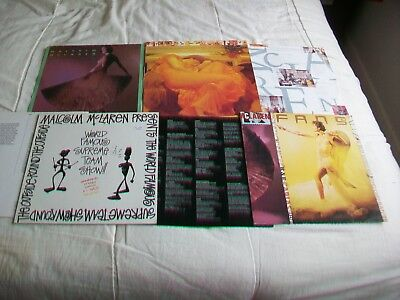 Malcolm Mclaren - 4 Records, World Famous,madam  Butterfly,fans,waltz Darling