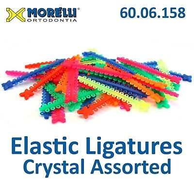 Dental Tooth Orthodontic Elastic Ligature Modules Assorted Crystal 1000pcs