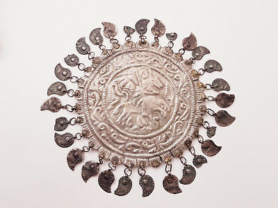 Gorgeous St. George Antique FORGED Silver alloy Folklore ORNAMENT 19th C. - RARE