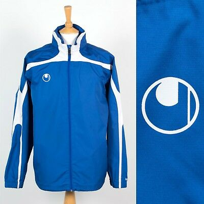 Details about  /Uhlsport Sports Football Training Mens Hooded Full Zip Jacket Waterproof Top