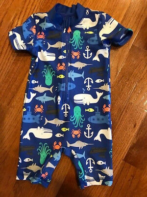 a81c87ca60923 CARTER'S BABY BOY 2Pc Hunk Rashguard Swim Trunks Usa Patriotic ...