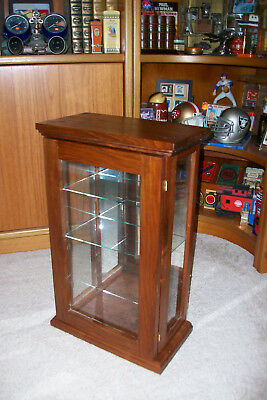Vintage Wood and Glass Counter Display Case....Tower.....