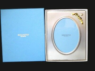 MIKIMOTO PICTURE / Photo Frame with Pearl Flower Motif Large! 7\