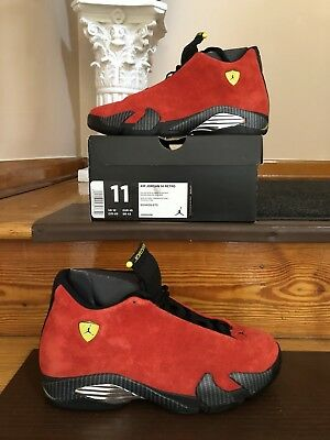 best loved ddd09 efaa1 Authentic Men s Air Jordan 14 Retro Ferrari 654459 670 Size 11