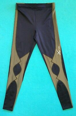 CW-X Womens Expert Tights 120809~Size Small/S~EUC~Gray/Navy~Triathalon/Running
