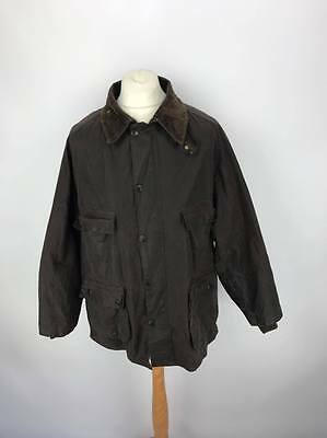 Vintage Barbour A252 Original Riding Jacket Waxed Country Coat C46/117CM Brown