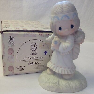 1978 Precious Moments His Burden Is Light E-1380/G Indian Girl w/Baby In Box