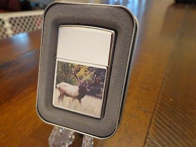 Crazy Leggs Bull Elk Zippo Lighter Mint In Box 2004 999/999