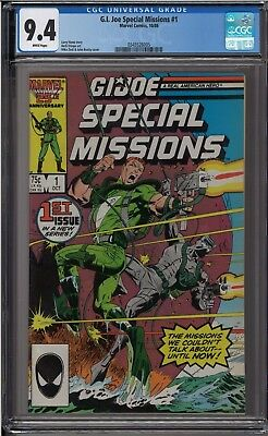 G.I. Joe Special Missions #1 CGC 9.4 White Pages A Real American Hero