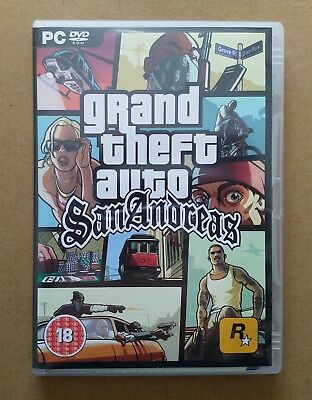 Grand Theft Auto San Andreas GTA (includes map!) PC Game 2005
