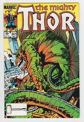 The Mighty Thor #341, WALT SIMONSON, FAFNIR, NICK FURY, Marvel Comics, VF, 1984