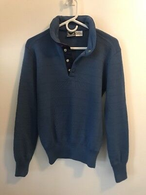 26a28ef5de3e VINTAGE Obermeyer 1983 Andy Mill 1 4 Snap Button Wool Ski Sweater Mens  Small S