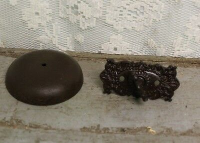 Antique Salvaged Victorian Doorbell and Ornate Turn Key *Parts For Restoration