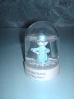 """Precious Moments """"YOU HAVE TOUCHED SO MANY HEARTS"""" Snow Globe 1985 - 3 1/2"""""""
