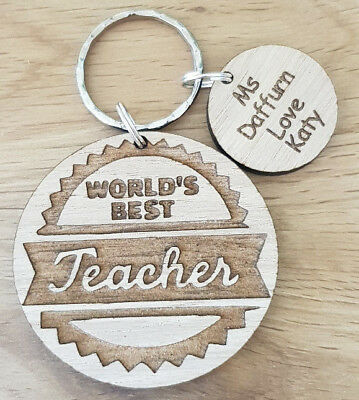 Personalised Gift For Teacher Gifts School Nursery End Of Year Term Keyring
