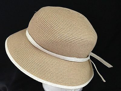 0a2660f248d2e Ann Taylor Straw Brimmed Spring-Summer Bucket Hat - Size Medium Large