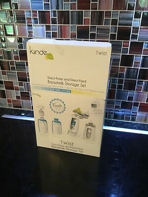 Kiinde Twist Direct-Pump and Direct Feed Breast Milk Storage Set- New in Box