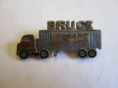Bruce 7yr Trucking Truck Driver Employee Safety Award Pin