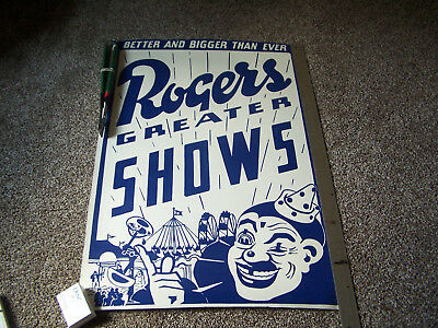 HATCH SHOW PRINT POSTER-ROGERS GREATER SHOWS-1998 NASHVILLE-40 x 27-woodblocks