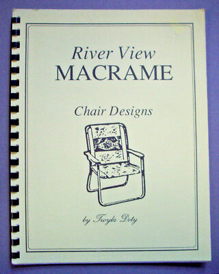 River View Macrame lawn chairs pattern dog cow loons dolphin praying hands