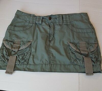 b278a64f92319 AEO AMERICAN EAGLE OUTFITTERS Skirt Women's Cotton Cargo Mini Army Green  Size 8