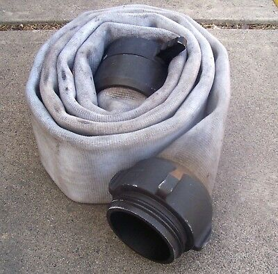 """12' FIRE HOSE 4"""" Couplings THICK 7"""" Wide Flat Low Pressure Irrigation/Boat Dock"""