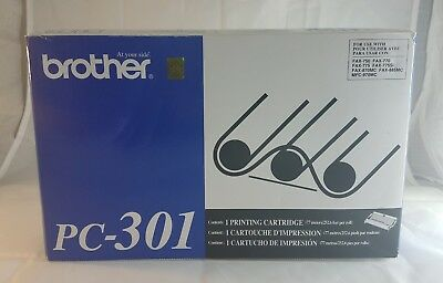 New & Sealed Genuine Brother PC-301 Fax Printer Cartridge