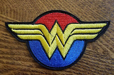 Wonder Woman Red & Blue Logo Patch 4 inch wide