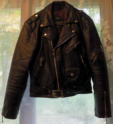 d4f21acff LEATHER JACKET THE Commando Straight to Hell Punk Leather